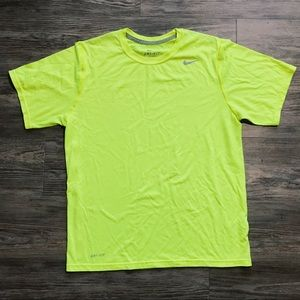 Nike Mens Neon Yellow Workout Shirt